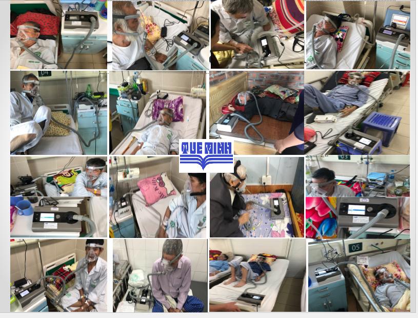 Một số hình ảnh bệnh nhân sử dụng máy thở